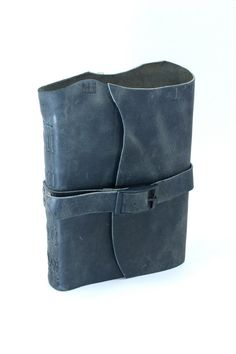 Artist's Journal in Heather Gray Reclaimed Leather  by bindingbee, $165.00