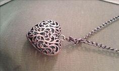 Heart rattle, simil antique Pendant with necklace by BelledeJourVintage on Etsy