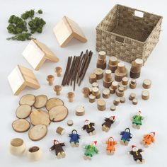 Small World Fairy Village Construction Set Preschool Arts And Crafts, Crafts For Kids, Classroom Crafts, Eyfs Outdoor Area, Construction Games, Forest School Activities, Fairy Box, Fairy Village, Small World Play