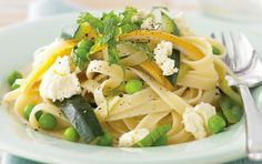 Recipes + shows you how to make this low fat fettuccine, zucchini and ricotta toss. Ricotta, Citrus Lemon, Zucchini, Big Meals, Food Shows, Veg Recipes, Recipe Of The Day, Dinner Plates, Bon Appetit