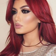 Tutorial for dark red hair pin by celeste milton on flawless in 2018 makeup and Cherry Red Hair Dye, Dyed Red Hair, Red Hair Color, Red Hair On Brown Skin, Burgundy Hair, Wig Hairstyles, Pretty Hairstyles, Red Wigs, Corte Y Color