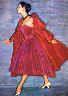 Beautiful Pink Dress - 1960s Mid Century Fashion -  Dior.