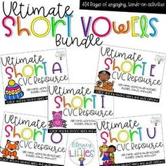 Working on CVC words and short vowels with your beginning readers? This bundle is filled with engaging activities that focus on all of the short vowel sounds. These activities are perfect for guided reading instruction, small groups, literacy centers, and with parent volunteers.