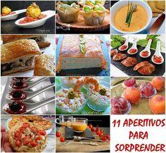 11 APERITIVOS Y ENTRANTES PARA SORPRENDER 4 Ingredients, Finger Foods, Pesto, Sandwiches, Deserts, Chips, Appetizers, Mexican, Health