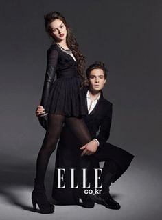 Closet Alternativo: Editorial revista ELLE: Chuck e Blair de Gossip Girl