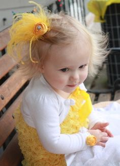 Yellow Feather hairclip! LOVE!