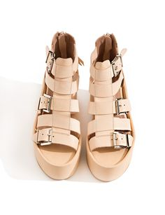 Jeffrey Campbell Thetis Tan Buckled Sandals $174.00