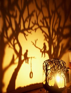 'who can impress the forest, bid the tree' by dan rawlings. Hand cut steel gas cylinder, candle everyact.co.uk