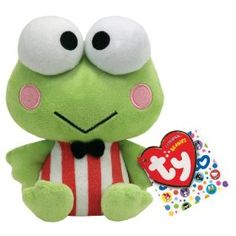 Click for larger image and other views        Share your own related images  Ty Beanie Baby Keroppi Hello Kitty Friend