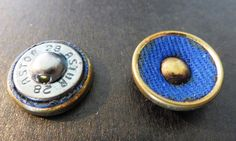 Vintage fabric/metal buttons from my sewing boxes.