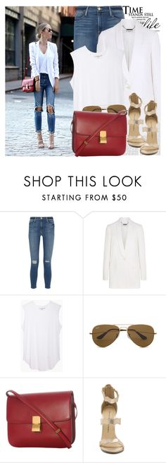 """""""2406. Blogger Style: Brooklyn Blonde"""" by chocolatepumma ❤ liked on Polyvore featuring Oris, Frame, Givenchy, Jasmin Shokrian Draft No. 17, Ray-Ban, CÉLINE, Chinese Laundry, BloggerStyle and brooklynblonde"""