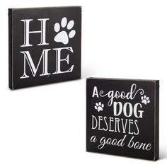 Paw Print Crafts, Dog Crafts, Dog Signs, Wall Signs, Wood Block Crafts, Wood Blocks, Wood Projects, Wooden Angel Wings, Baby Wall Art