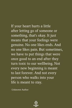 If Your Heart Hurts A Little After Letting Go Of Someone Or Something quotes quotes deep quotes funny quotes inspirational quotes positive Motivacional Quotes, Wisdom Quotes, True Quotes, Words Quotes, Funny Quotes, Sayings, Happy Quotes, Couple Quotes, I Care Quotes