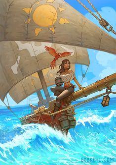 Fantasy Character Design, Character Drawing, Character Concept, Character Inspiration, Concept Art, Character Ideas, Character Portraits, Pirate Songs, Pirate Art