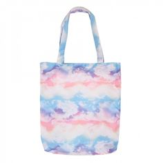 Pastel clouds foldaway bag