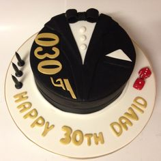 James Bond themed chocolate mud cake with vanilla bean buttercream 30th birthday casino royal