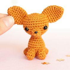 Miniature crochet plush chihuahua Amigurumi chihuahua by SoCroch