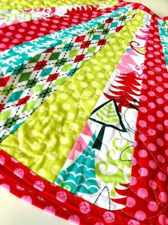 Colorful Christmas Tree Skirt  Fun Pink Lime Green by loveelaine, $150.00