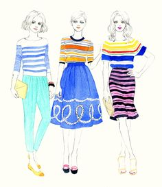 Stripes, by Teri Chung / Fashion Illustration