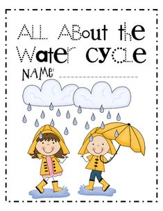 Cute connection to writing with the water cycle! A story about how the water cycle and every element in it directly relates to your daily life.