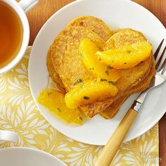 These heart-shape pancakes taste more like cheesecake than breakfast -- perfect for Valentine's Day indulging./