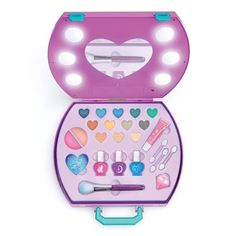 Make It Real Light Up Cosmetic Studio Makeup Kit For Kids, Kids Makeup, Toddler Makeup, Makeup Set, Barbie Birthday, Birthday Gifts, Nail Stamper, Bright Makeup, Unicorn Makeup