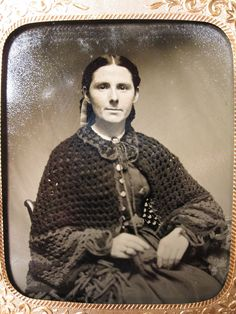 Antique American Victorian Crochet History Shawl Knitting Old RARE Tintype Photo | eBay