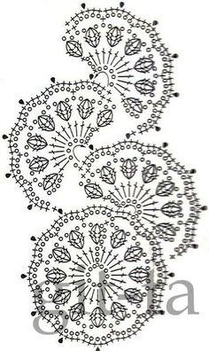 a beautiful crochet motif!Una variazione di un motivo più semplice!crochet pattern - I gotta learn how to read these charts better!GALA szydełku, handmade, crochet, DIY, ogrodzenia ogniw… na Stylowi.These crochet motifs would make an adorable spring c Beau Crochet, Crochet Lace Edging, Crochet Motifs, Crochet Diagram, Crochet Stitches Patterns, Freeform Crochet, Crochet Chart, Crochet Squares, Thread Crochet