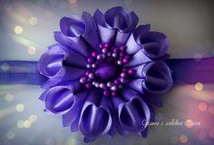 Flower Kanzashi Master Class hand made DIY Tutorial Канзаши МК Новая зеф...