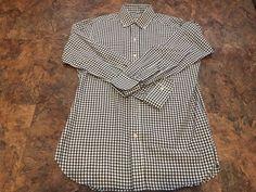 "Taylor Stitch White/Black Gingham Check Button Front Shirt Mens Large 42"" Chest #TaylorStitch #ButtonFront"