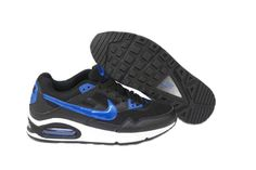 new styles 2f351 87a59 Danmark Billige Nike Air Max Skyline Running Trainers Mænd - Black BlueWhite