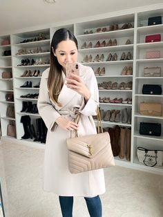 Neutral winter luxury style Luxury Purses, Luxury Bags, Nude Outfits, Fashion Outfits, Nude Bags, Women's Crossbody Purse, Ysl Bag, Saint Laurent Bag, Purses