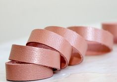 Pearl  Pink Genuine Leather Strap, 1 Yard by JLLeatherSupplies on Etsy