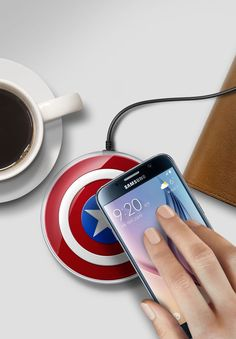 Samsung Galaxy S6, S6 Edge Avengers Edition Wireless Charger Pad EP-PG920 #Samsung