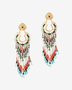 Summer 2015 Look Book | Gas Bijoux apache beaded chandelier earrings. Pair your outfit with a long earring to accomplish a bohemian look
