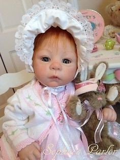 """NEW Reborn Baby Girl 22"""" Doll Pretty Harlow First Easter Laura Tuzio Ross LE COA"""