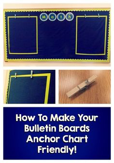 Ideas for setting up anchor-chart friendly bulletin boards!
