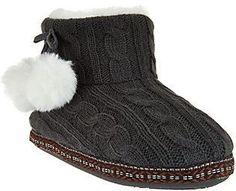 Cuddl Duds Faux Fur Lined Ankle Bootie Slippersw/ Foam Insole Cuddle Duds, Bedroom Slippers, Womens Slippers, Fashion Boots, Ugg Boots, Ankle Booties, Really Cool Stuff, Lounge Wear, Faux Fur