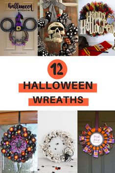 Looking for some inspiration for wreaths this Halloween? Then check out this list of 12 DIY Halloween wreaths. Eyeball wreaths, Harry Potter Halloween wreaths, spider wreaths, mummy wreaths and more. Click to see this list of spooky Halloween wreaths, or re-pin for inspo later! Halloween Wreaths, Spooky Halloween, Halloween Decorations, Harry Potter Halloween, Make Your Own, Spider, Diys, Amazing, Check