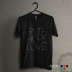 'FHL 1' - Kaos rohani dengan tulisan 'Faith, Hope, Love' berwarna putih polos. Ada lima pilihan warna kaos. Size lengkap, mulai dari #KaosAnak sampai kaos dewasa. Bisa kompakan bareng sahabat dan keluarga. All items ready stock di www.teesalonika.com --- CP : BBM (5EA8DA88) / WA (08811575513) ---- #KaosKristen #Katolik #KaosRohani #Kaos #JadilahTerang #Natal #KaosCouple #KaosFamily
