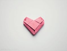 how to fold an origami heart <3