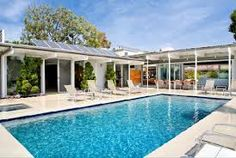 mid century modern swimming pool