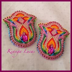 Colorful floral. I need to work on my floral beadwork. (Not made by me).