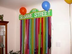 Sesame Street Banner--Keaton Street with a highlighted 2 for the front door? Elmo Birthday, Baby 1st Birthday, First Birthday Parties, Birthday Party Themes, First Birthdays, Seasame Street Party, Sesame Street Birthday, Street Banners, Cookie Monster Party