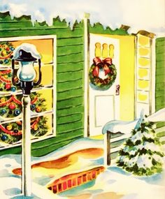 Home at Christmas.