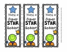 {Freebie!} Star Reader Bookmarks {Creative Clips Digital Clipart}