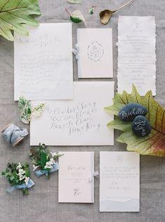 Neutral Wedding Stationary. Natural wedding invitation suite0136-Michelle + Ryan
