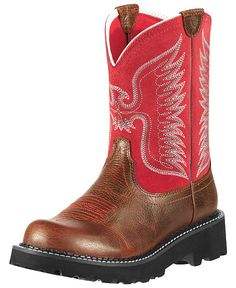 Ariat Fatbaby Red Thunderbird Cowgirl Boots - Round Toe - Sheplers