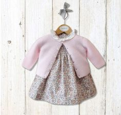 M&H baby dress and sweater from Spain   Worn by Charlotte for her first Royal portrait