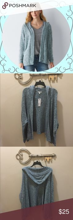 Sonoma Marled Design Open Front Hooded Cardigan This contemporary Marled design Hooded Cardigan will keep you looking trendy. Poodle Blue. Sonoma Sweaters Cardigans